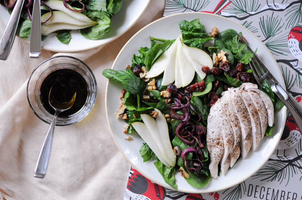 balsamic-chicken-pear-salad