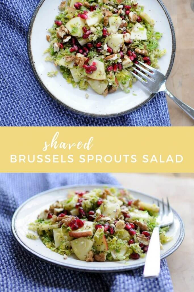 Who knew Brussels sprouts tasted good in their raw form? This shaved Brussels sprouts salad is filled with apples, pomegranates, walnuts, and poppy seeds and surprisingly tastes better the next day.