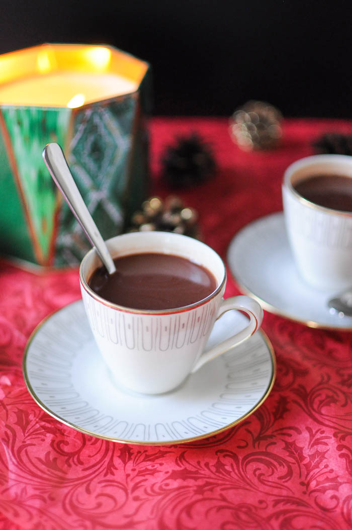how to add peppermint to hot chocolate
