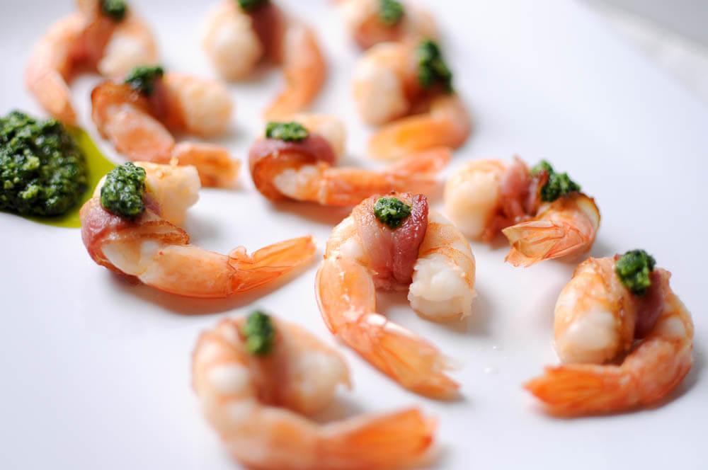 Bacon-Wrapped Shrimp with Pesto-4