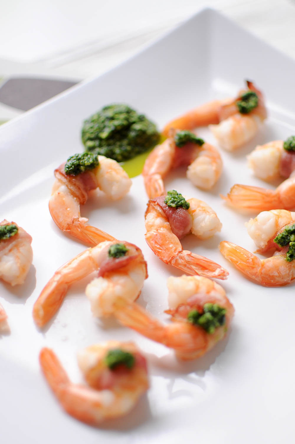 Bacon-Wrapped Shrimp with Pesto-7