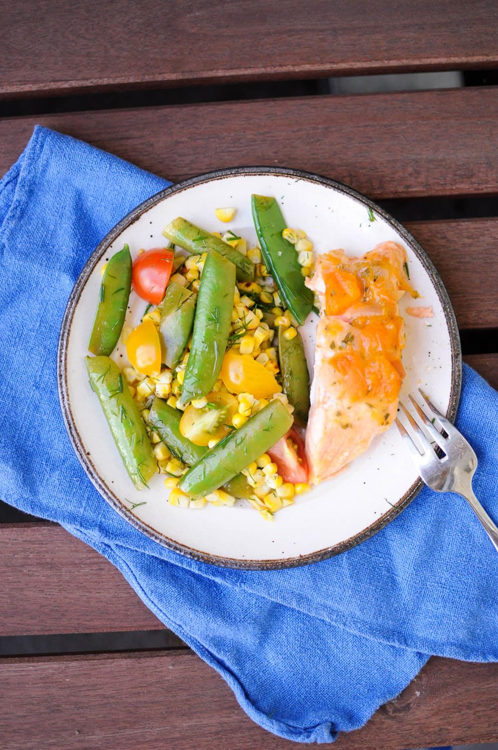 Grilled Corn Snap Pea Salad-10