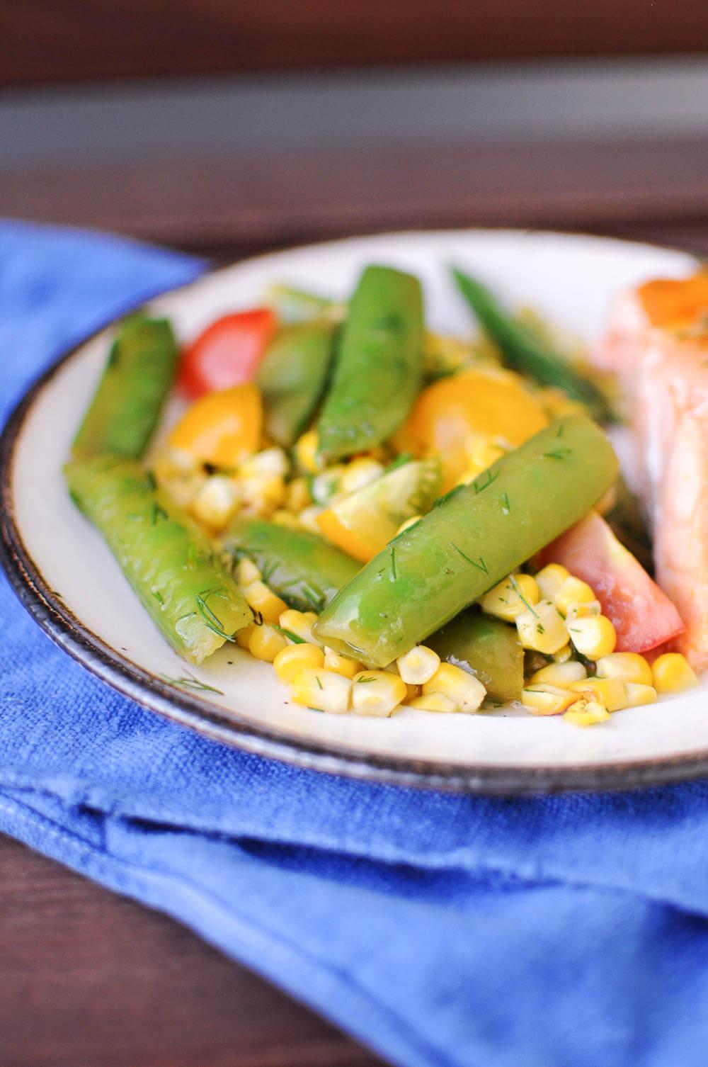 Grilled Corn Snap Pea Salad-9