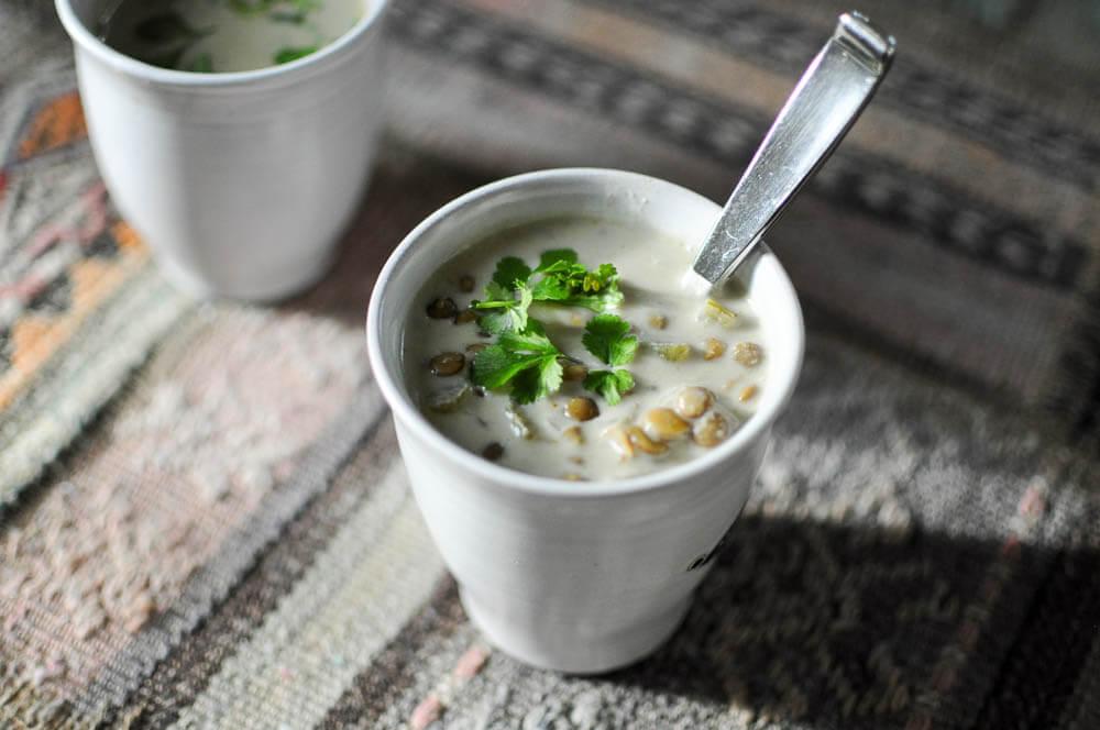 Green Lentil Curry Soup-3