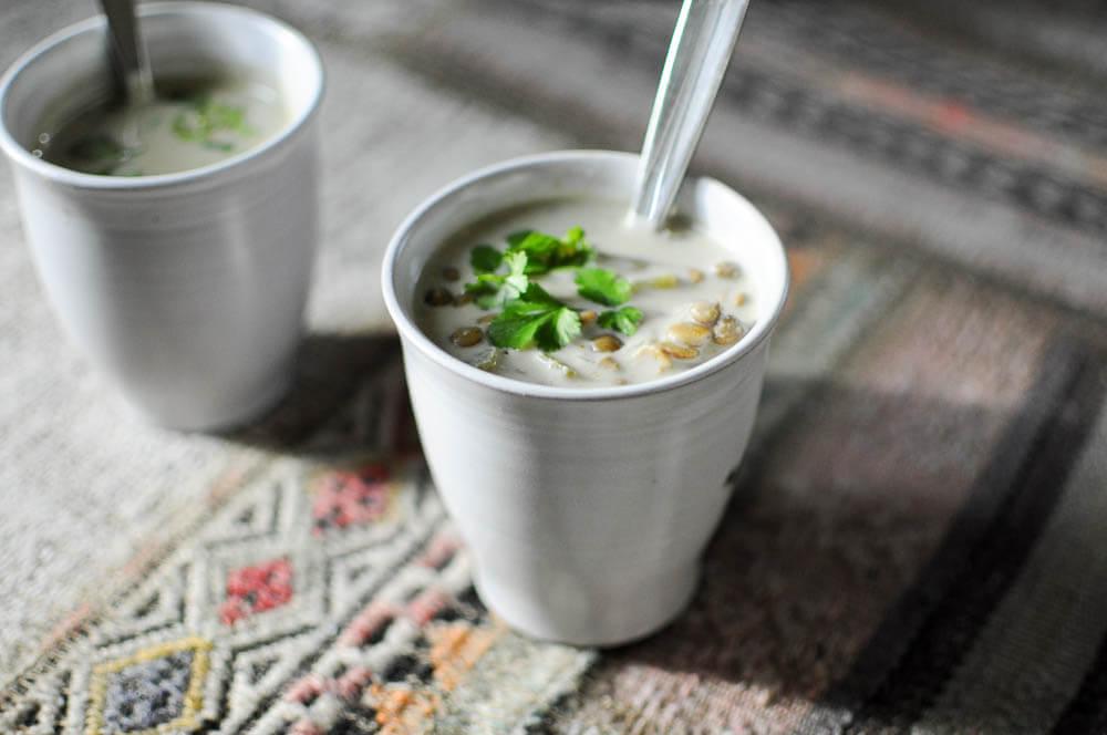 Green Lentil Curry Soup-4