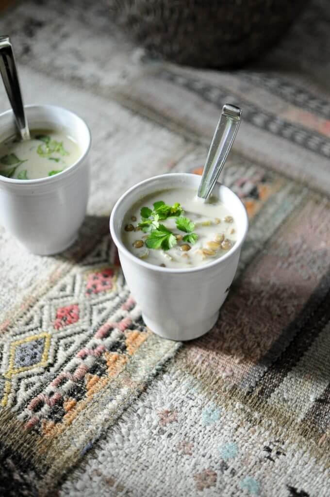 Green Lentil Curry Soup-6